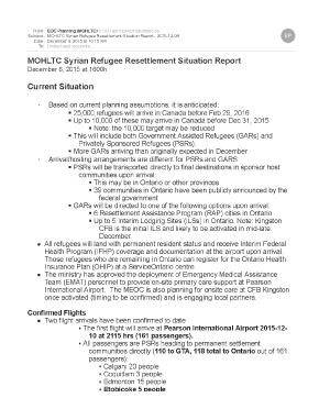 MOHLTC Syrian Refugee Resettlement Situation Report  20151208_Page_1